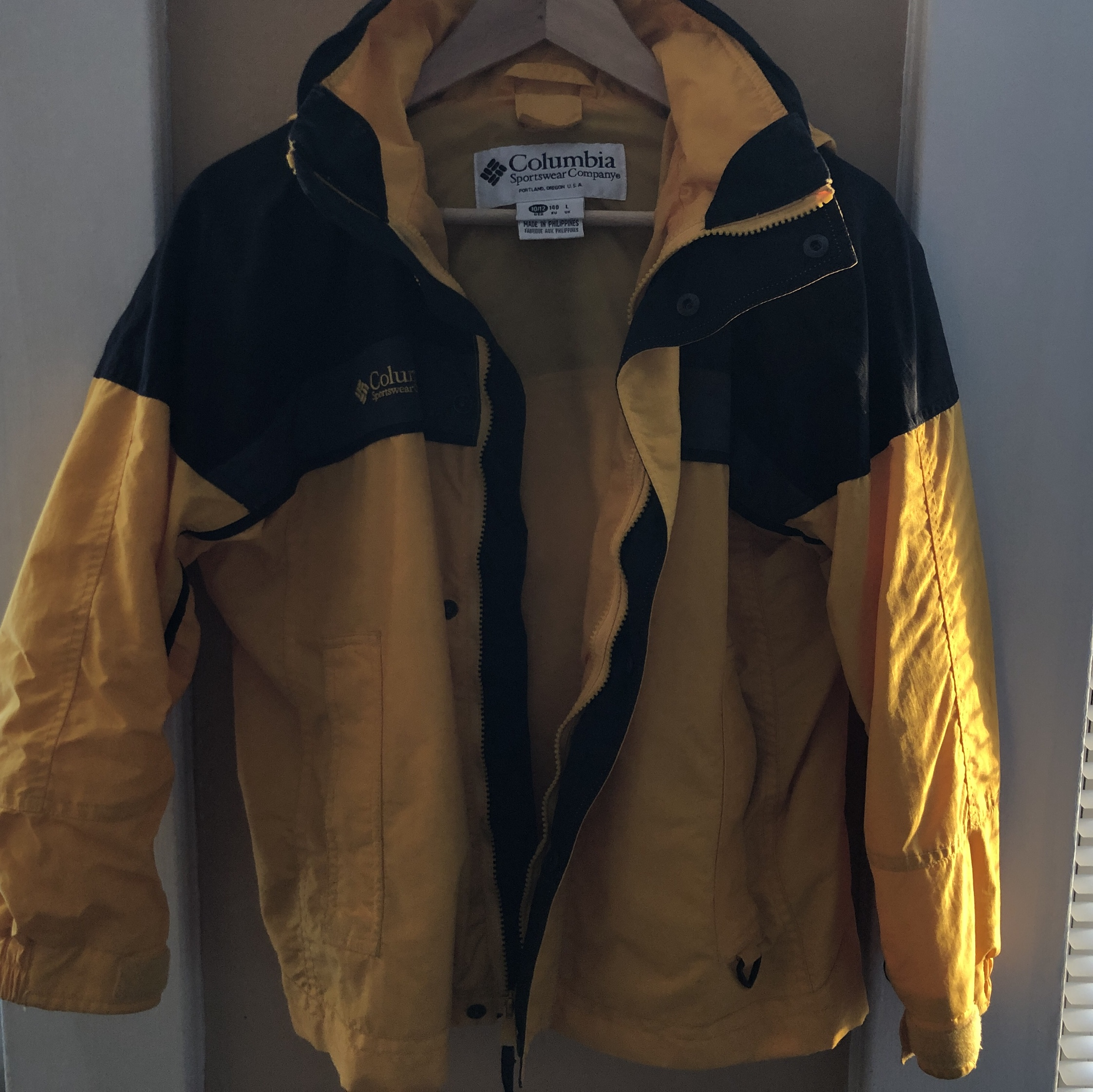 b68e1ab0f0b Yellow Columbia sportswear company windbreaker - marked L me - Depop