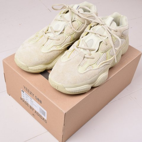 a07ab775577af Yeezy 500 Super Moon Yellow trainers with original box Size - Depop
