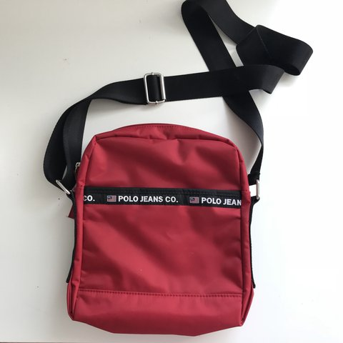 8365eda33d81 🔥 RESERVED 🔥 Polo Ralph Lauren red side bag pouch and on - Depop