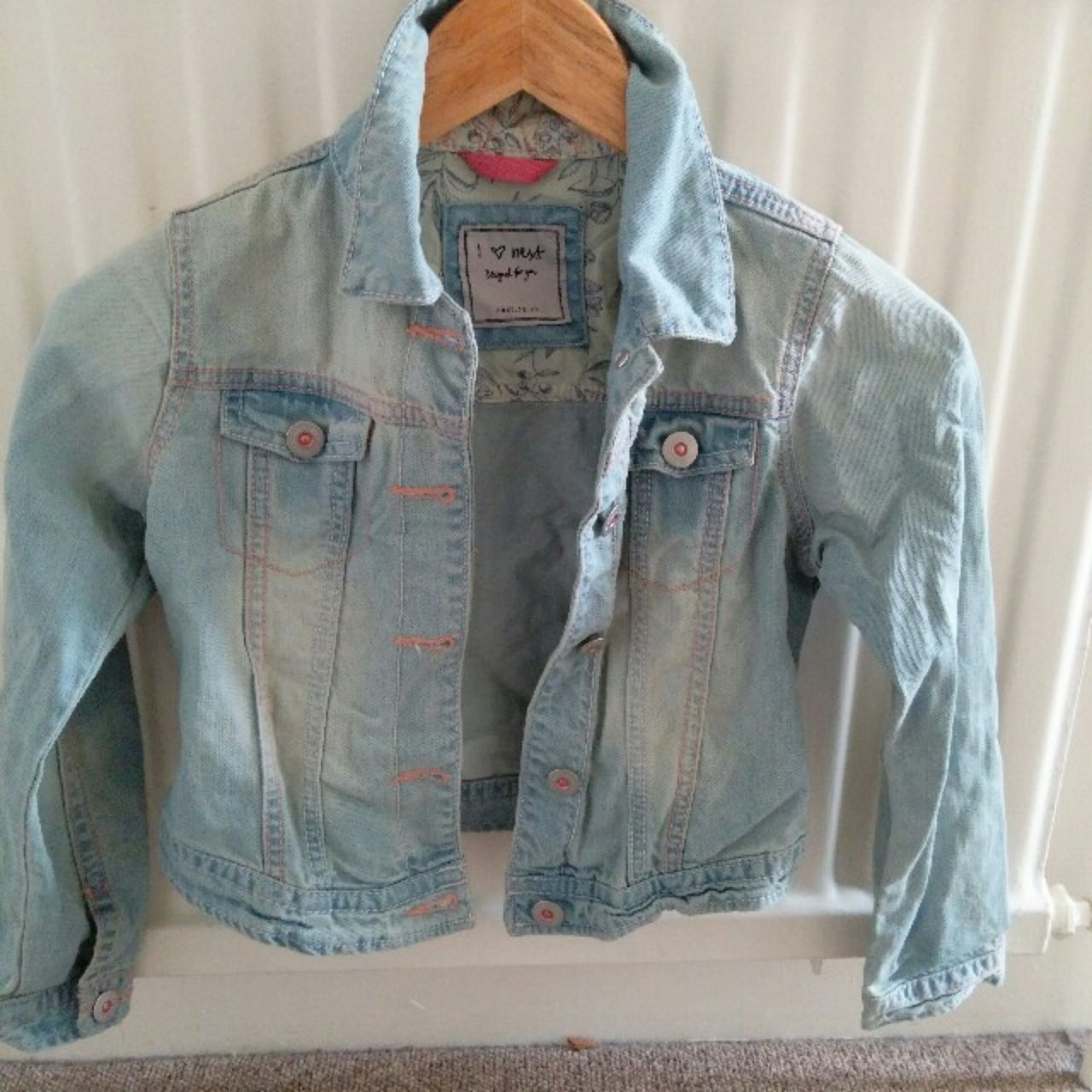 6ed828a23 Next Girls Denim jacket Age 7-8 Never worn Tags have been - Depop