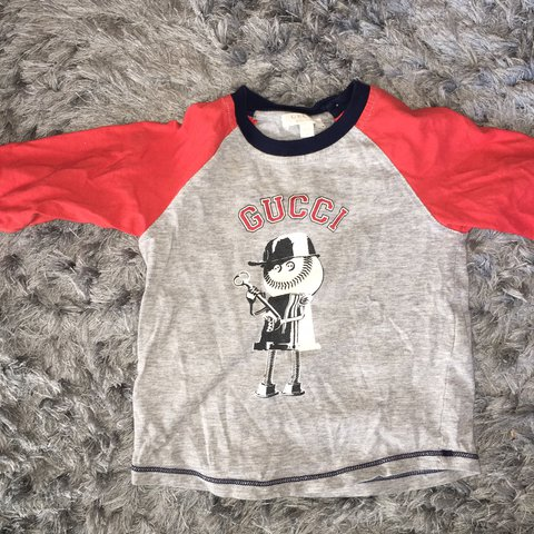 35f99f1b @djrh. last year. Romford, United Kingdom. Gucci boys long sleeve t shirt  size 9/12 months