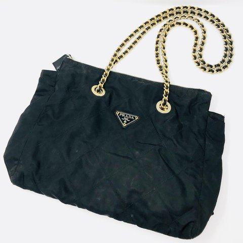 e8134cad992dbe @itshadrian. 2 years ago. Chino Hills, United States. Gorgeous vintage  Prada bag in Quilted black nylon ...