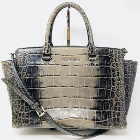 d192703fbf82 Gorgeous large Michael Kors Selma Satchel in embossed croc a - Depop