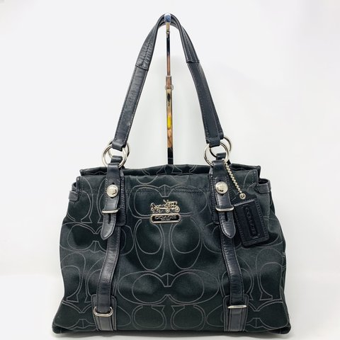 77a2d3b6fec3 Gorgeous black monogram Coach shoulder bag. Monogram printed - Depop