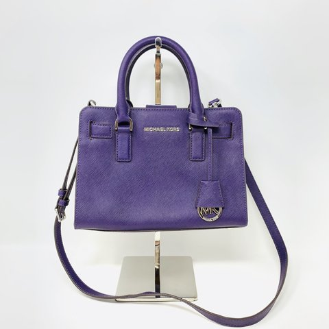 4a58f9abdb0cb2 @itshadrian. 4 months ago. Chino Hills, United States. Gorgeous royal purple  saffiano leather and silver hardware Michael Kors ...