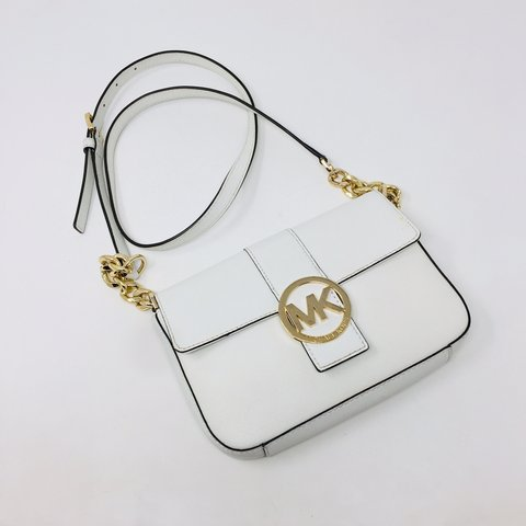 555a057bb0fc @itshadrian. 20 days ago. Anaheim, United States. Check out this gorgeous  white Michael Kors small crossbody bag ...
