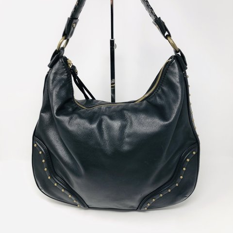 16644376a98f @itshadrian. last month. Anaheim, United States. Check our this gorgeous Michael  Kors shoulder bag in black leather ...