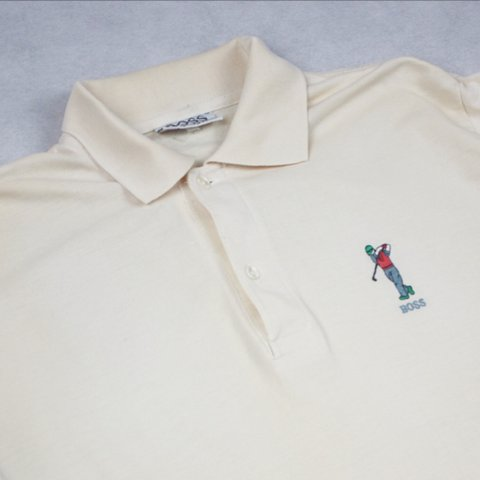 f8fba5224 @sestrisvintage. 3 years ago. Liverpool, UK. Vintage 90s Hugo Boss golf polo  shirt ...