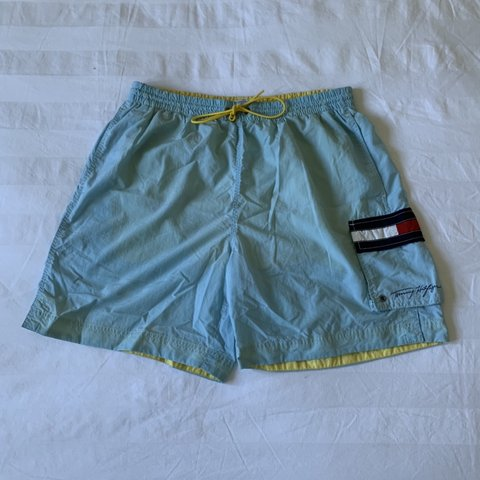0995adc1e5 @lewster. 4 months ago. Salisbury, United Kingdom. Vintage Tommy Hilfiger  swimming shorts / pants. Good overall condition