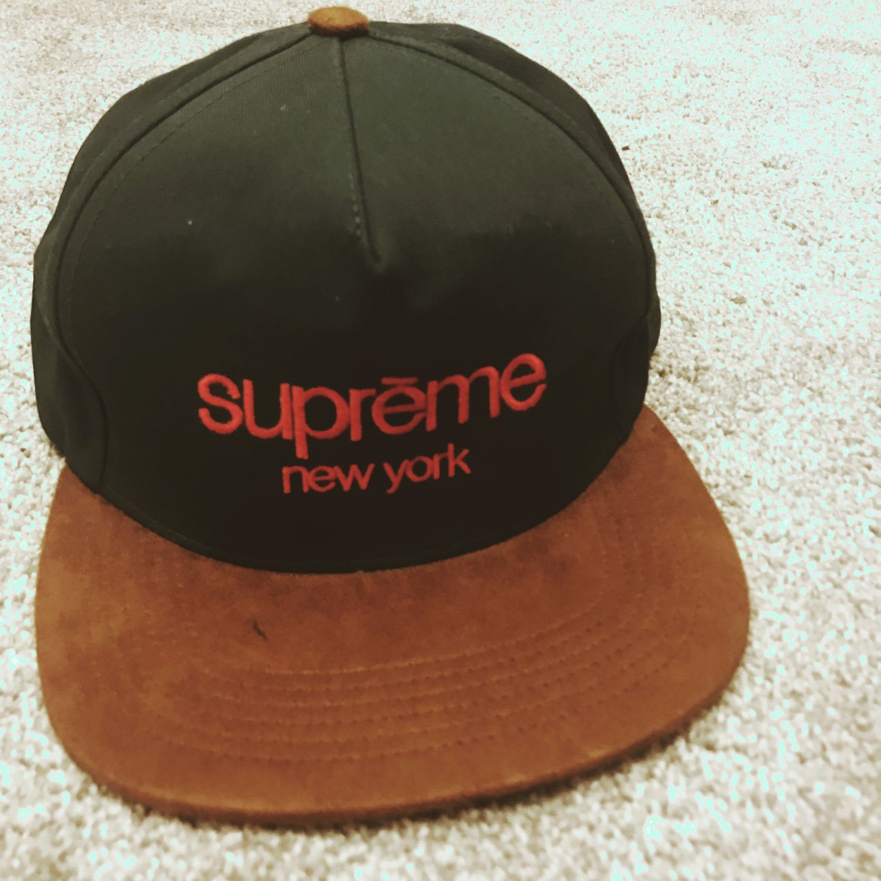 Supreme New York hat bought in Wavey Garms this year. back - Depop e13e46b41e58