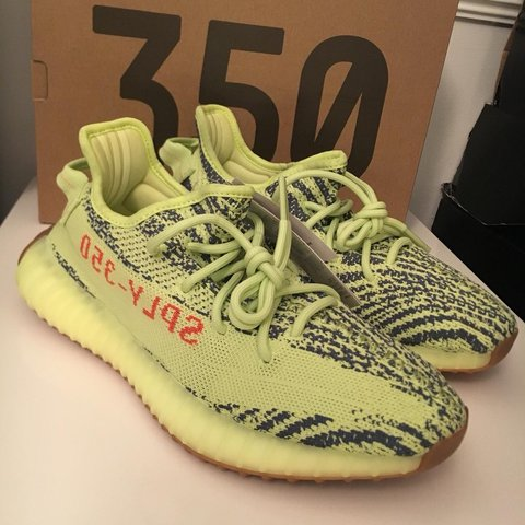 c5ba308222a11 ADIDAS YEEZY BOOST 350 V2 - Semi Frozen Yellow 💛. Never and - Depop