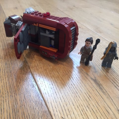 Lego Star Wars Reys Speeder Already Built And Without Depop