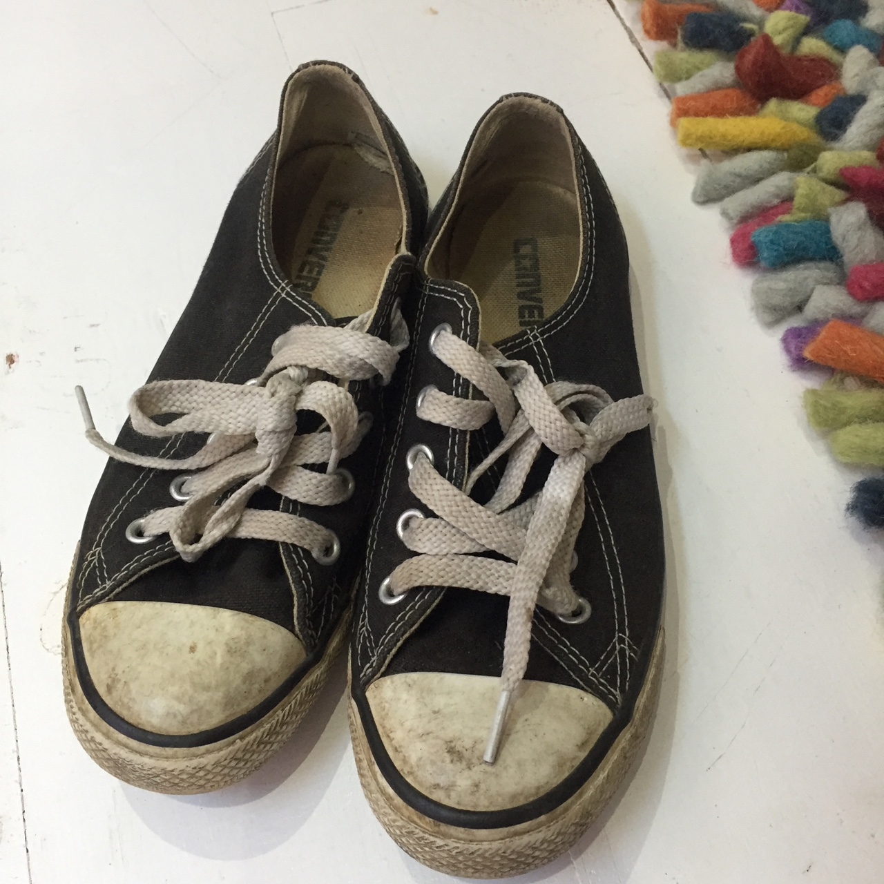 V old black converse, in need of a good