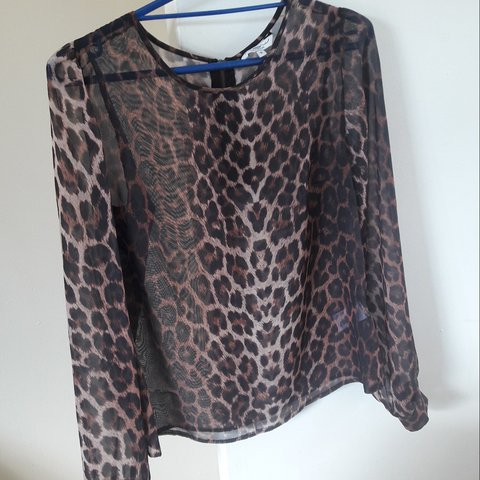 223f74cc622a Item is in the 3 for £10 offer Leopard print shirt New 10 - Depop