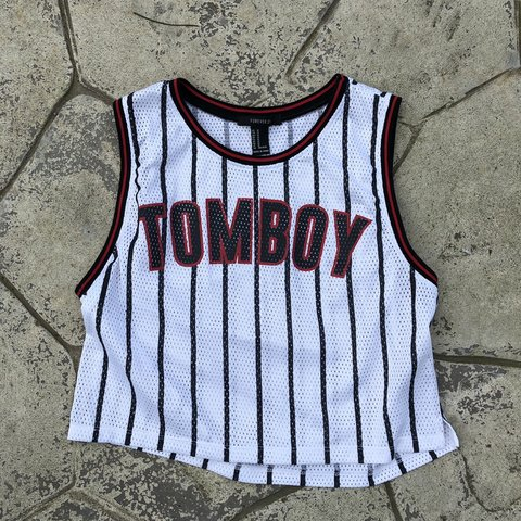 db655082dc9 Cute basketball jersey crop top. Goes about right below Cute - Depop