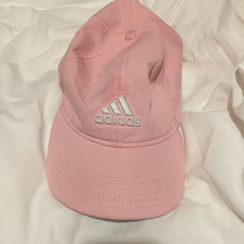 Genuine baby pink adidas cap with adjustable strap. Small at - Depop be7e31fccab