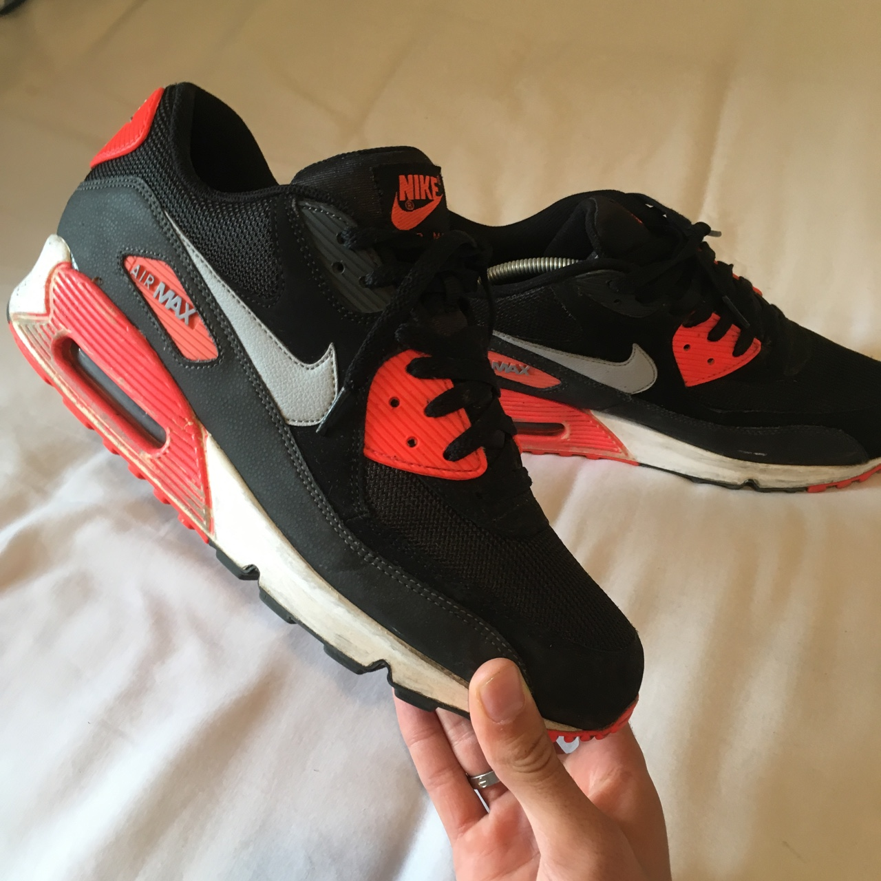 are 90 Nike shoes Airmax black in these Depop infrared tshrdQ
