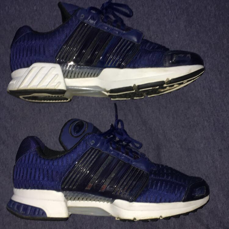 Adidas ClimaCool Navy Blue/White Trainers, Very Good...