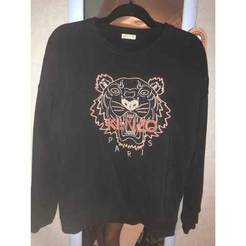 a29503209c Girls kenzo black and rose gold iconic tiger jumper size to - Depop