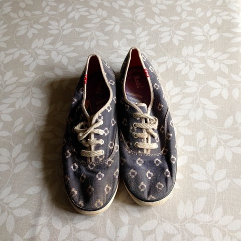 0a9b3fd2aaa65 @mimihp. 11 months ago. Tiverton, United Kingdom. Keds blue patterned shoes
