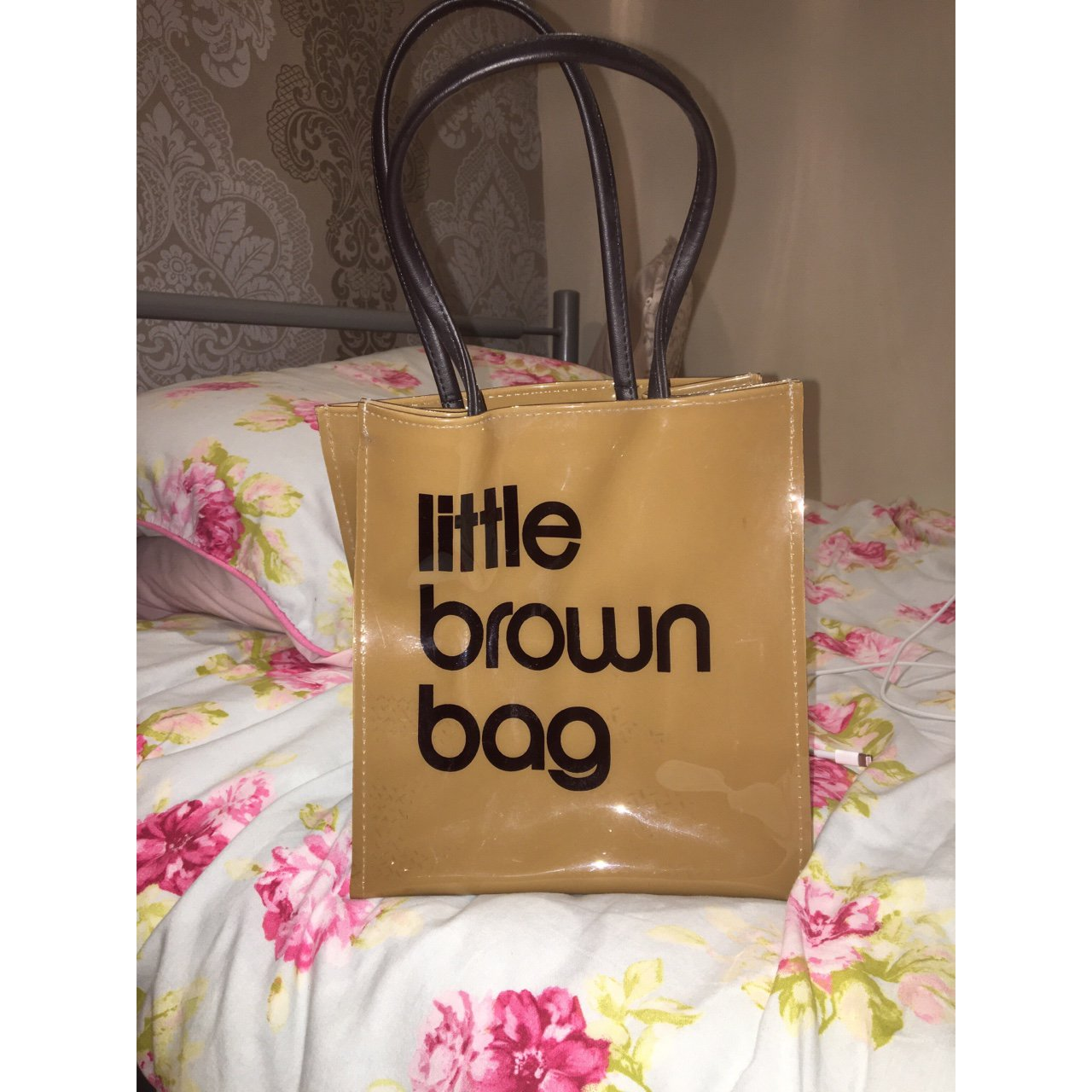 74e591eb7903 Bloomingdales little brown bag never used perfect size for depop jpg  1280x1280 Bloomindales bag