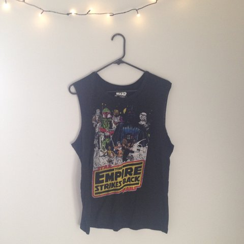062759e4 @lauren_moulton. 4 years ago. Yorkville, IL, USA. Star Wars Empire Strikes  Back distressed muscle tee.