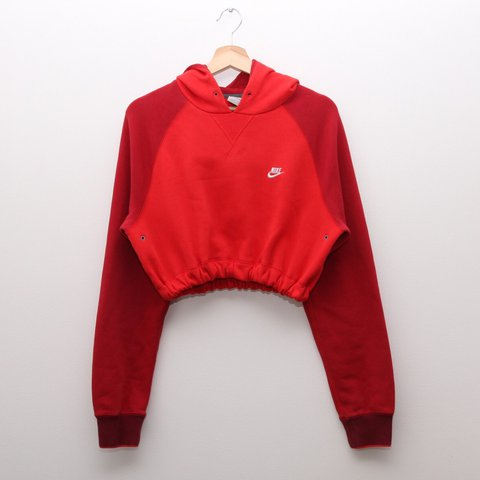 sale retailer f2059 e5886 Red Nike cropped hoodie. White- 0