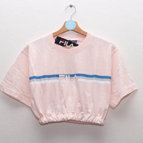 f641b65b1da36 Brand new with Tags Pale pink Fila crop top. Baby pink with - Depop