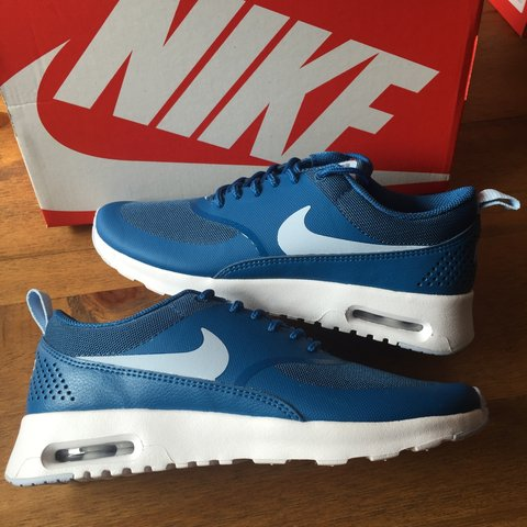 f7d86b816a06 Brand New Nike Air Max Thea Brigade Blue UK Size 4 Instant - Depop