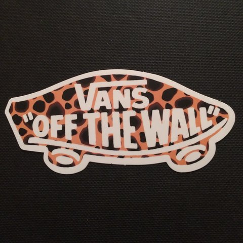 63a66483d62d Vans Off the Wall sticker  vans  offthewall  skateboarding - Depop