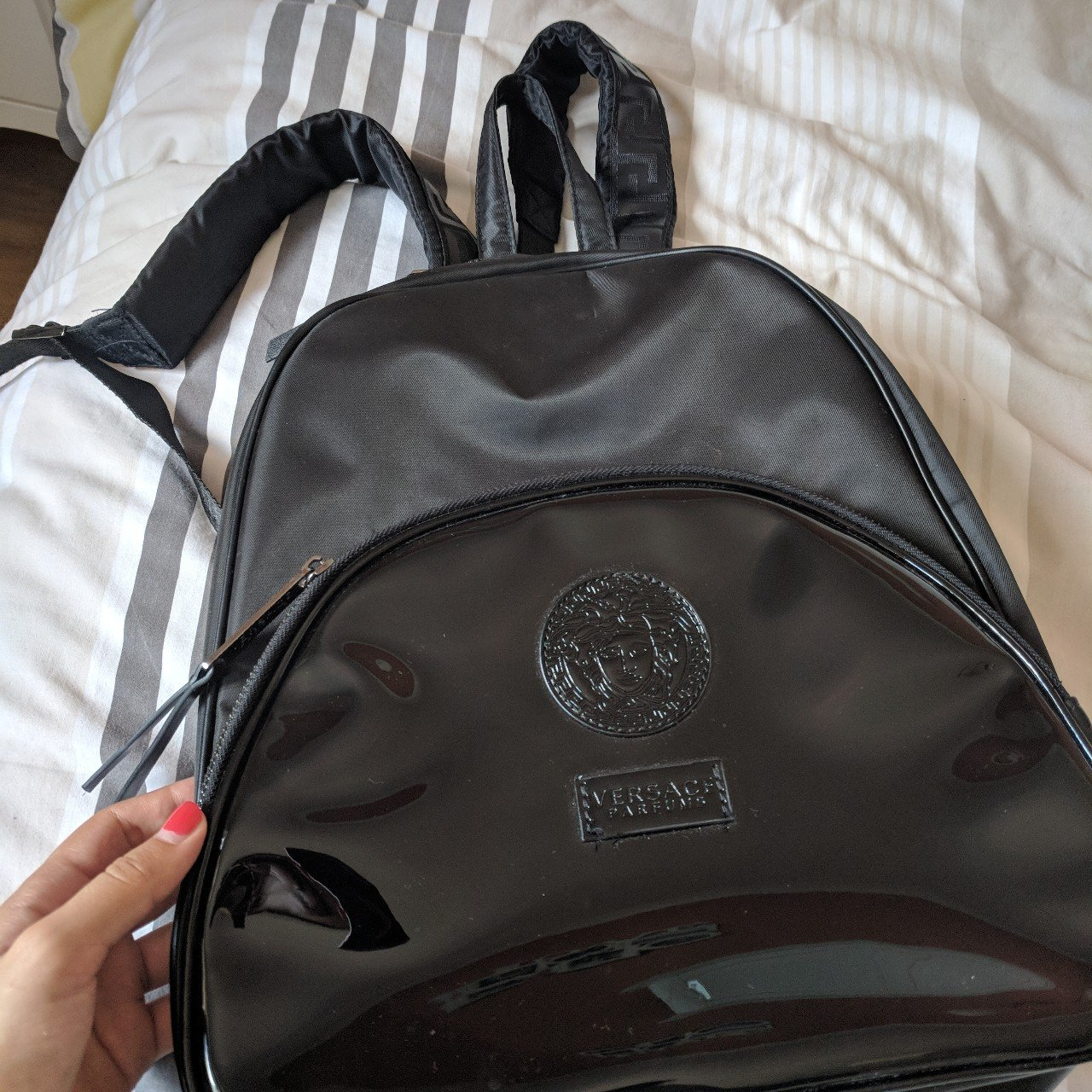 f6a4375704f6 Versace back pack!!! Only worn once. Basically new - Depop