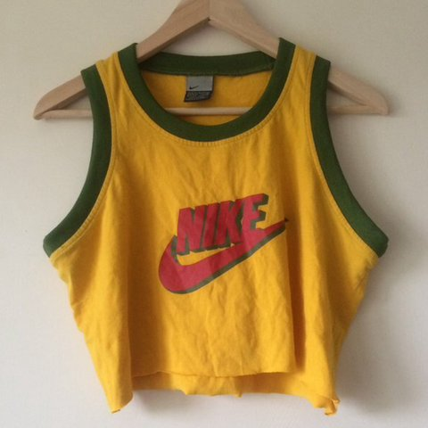 9fe22d5c303507 Nike crop top altered from a vintage mens nike basketball in - Depop