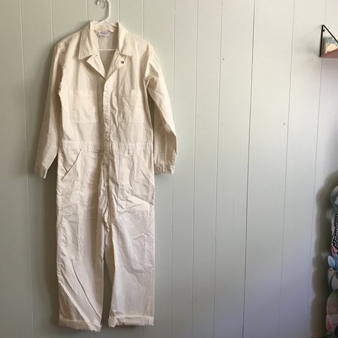 21e2238f98c Big Bud Press white jumpsuit. Never worn. Tag reads size L. - Depop