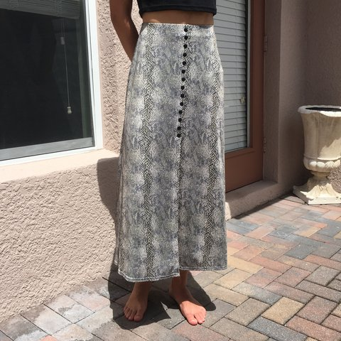 489ee49c3 The Viper Skirt 🐍✨ by EZ Town. A super cute Y2K maxi skirt - Depop