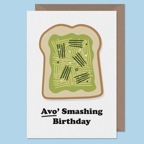 Hipster Card Cool Birthday Smashed