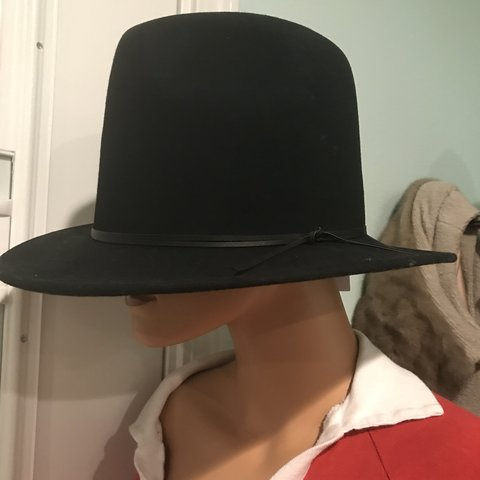 e6587e77315ab High crown felt fedora. I m just cursed to not have a head - Depop