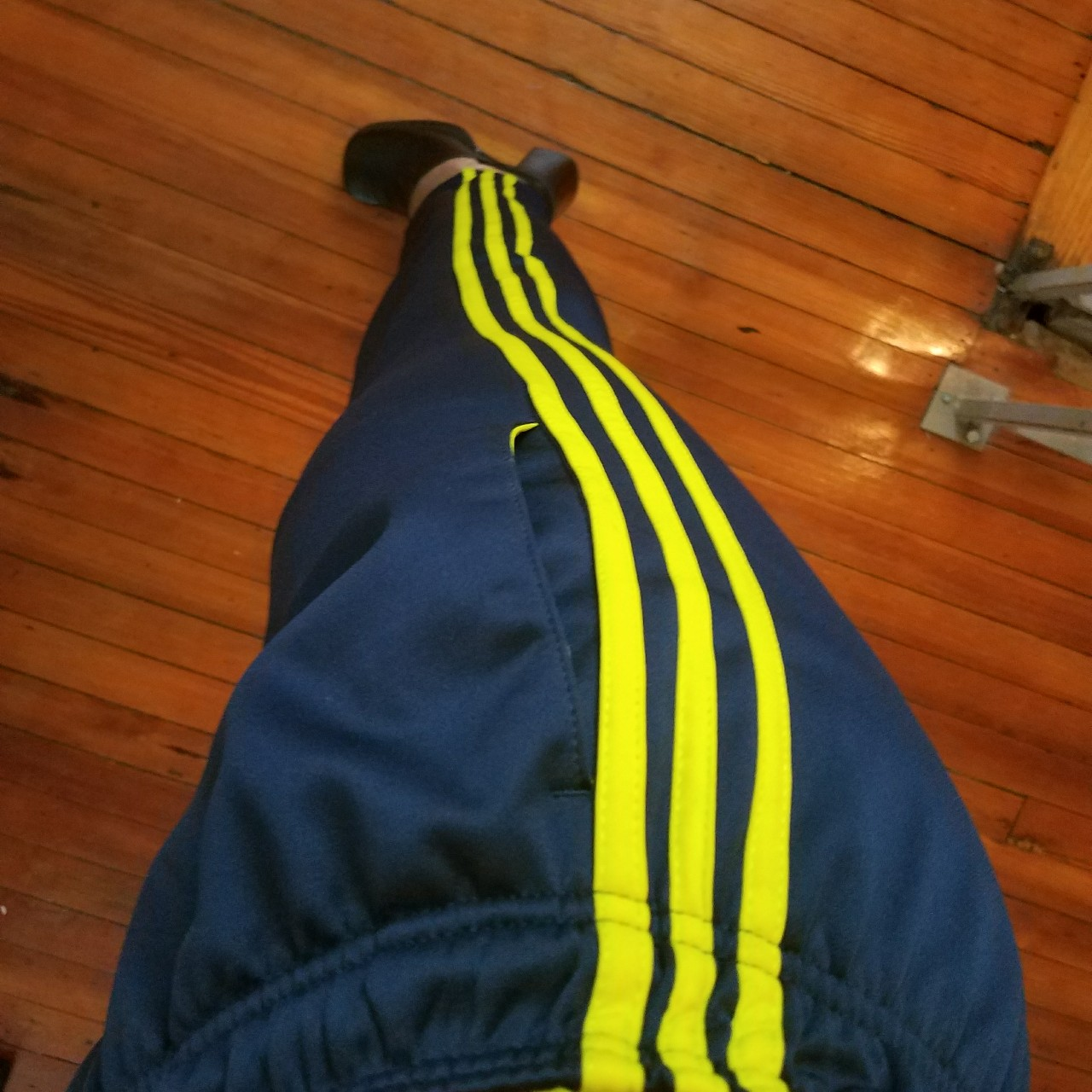 Navy Blue Lime Green Adidas Pants Youth Boy Size Depop