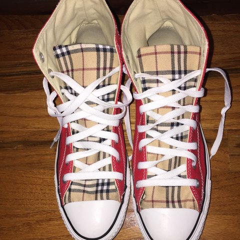 c903f3168bfb Custom made converse Burberry Chuck Taylor s made by Louie 9 - Depop