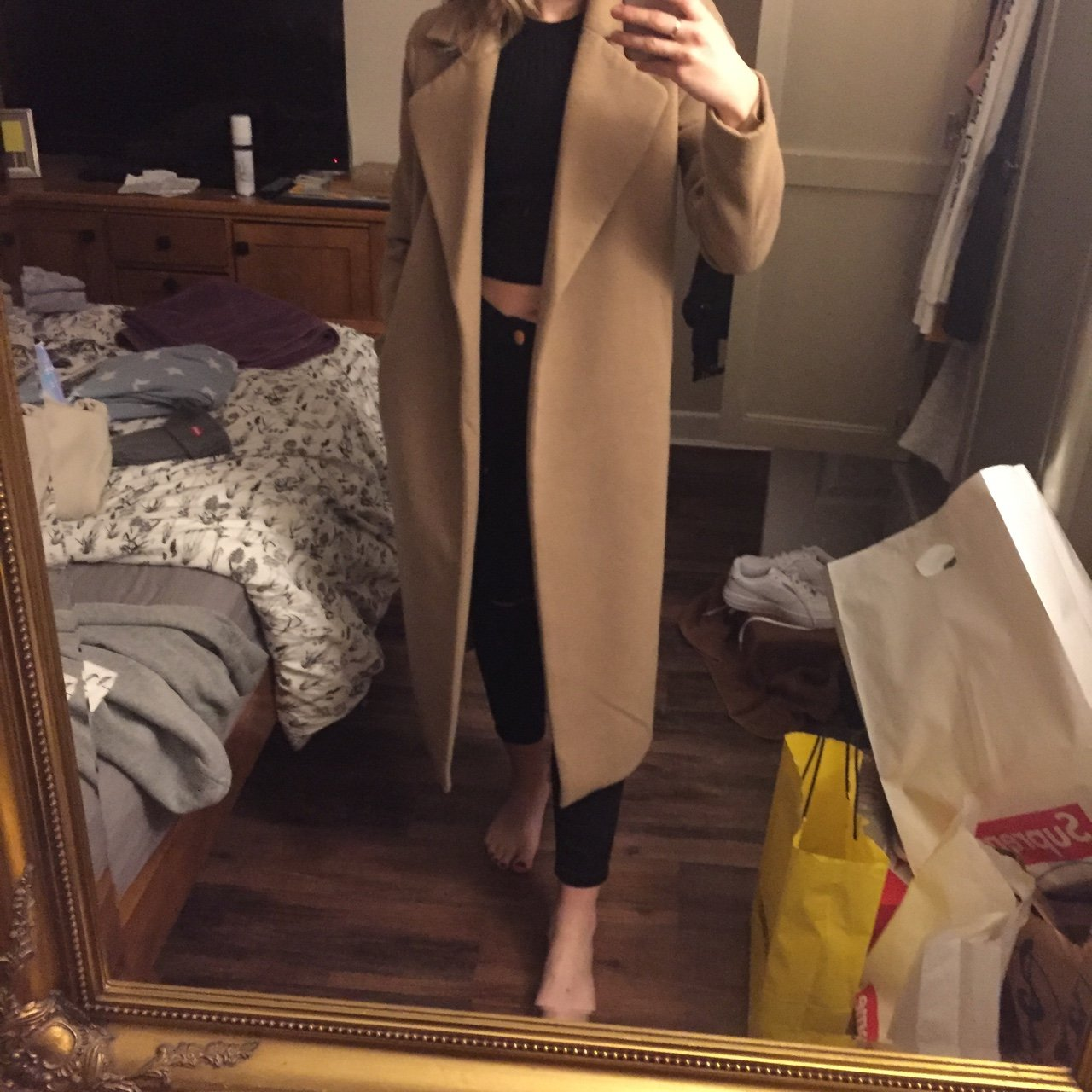 8c638f9a5853 Need to get rid of this! Missguided premium kimberley camel - Depop