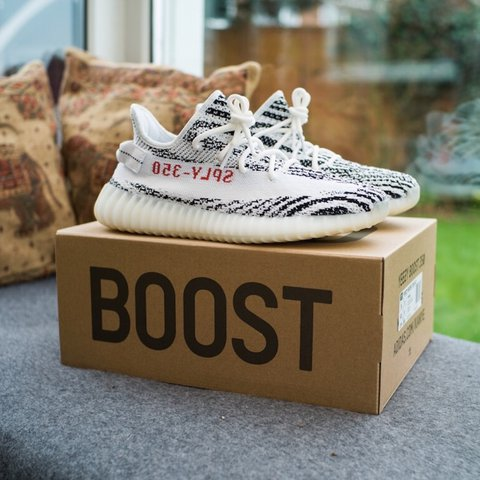 0592c4d69d4 Yeezy Boost 350 V2 zebra CP9654 size UK 9 - brand new in box - Depop