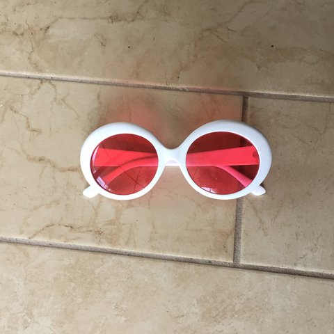 87734e424901b Kali Uchis rose tinted glasses  Clout goggles. barely used - Depop