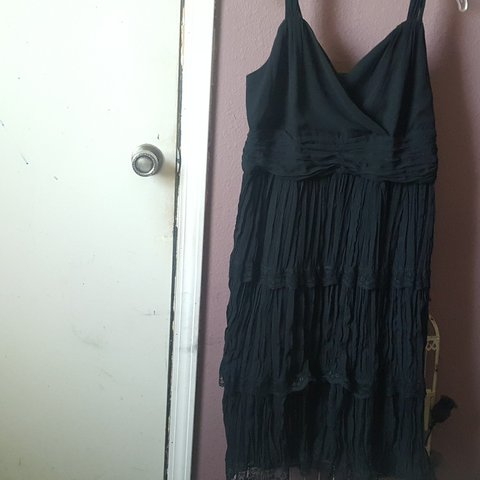 bf46a65382bf Vintage/Thrifted Lane Bryant polyester and lace dress. I'm a - Depop