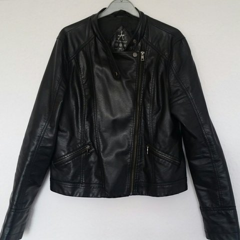2ab0514e3 @staggy92. 3 years ago. Hessle, United Kingdom. Primark Black faux leather  jacket in excellent condition.
