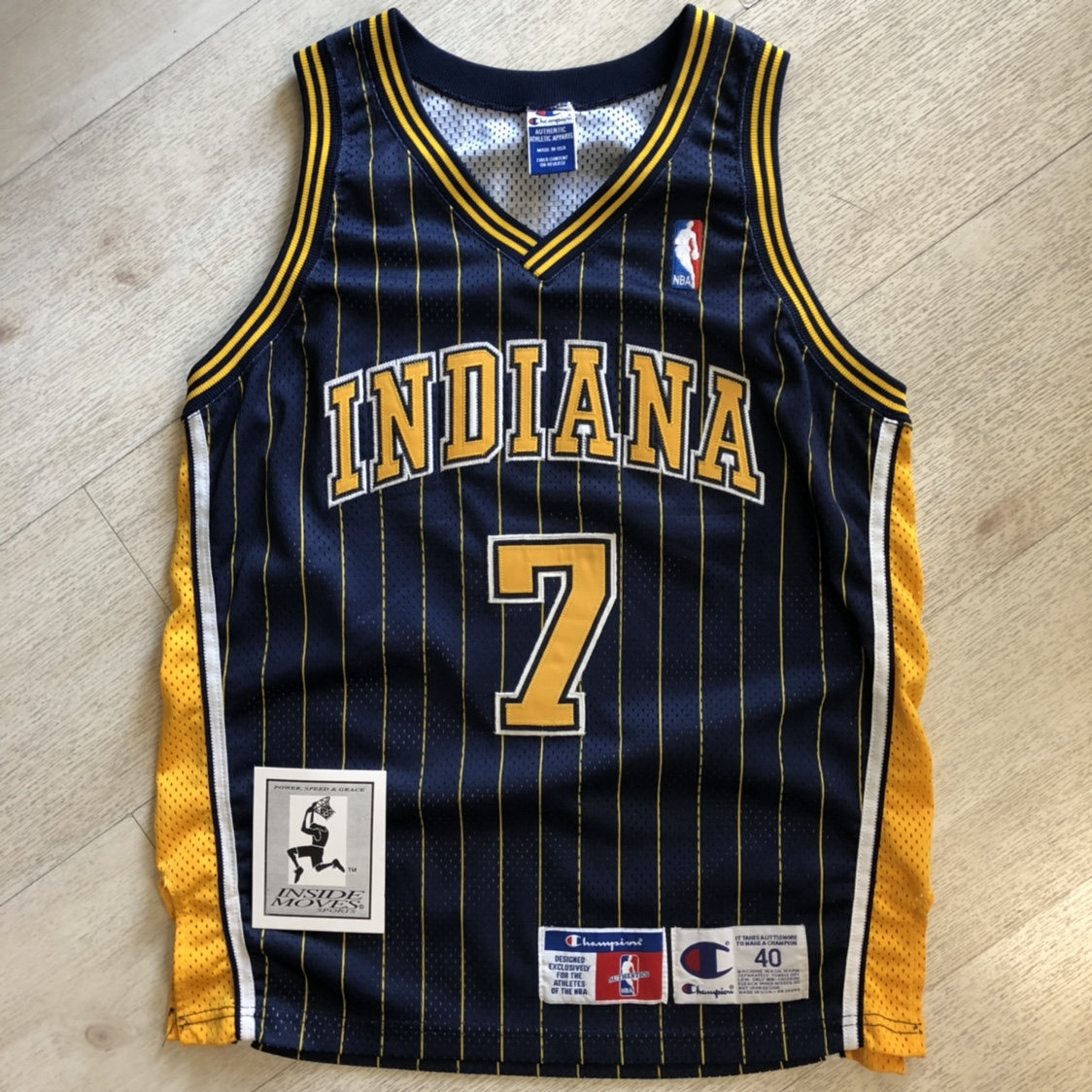 new concept 7e7bb 5bebb Jermaine O'Neal #7 Pinstripe Authentic... - Depop