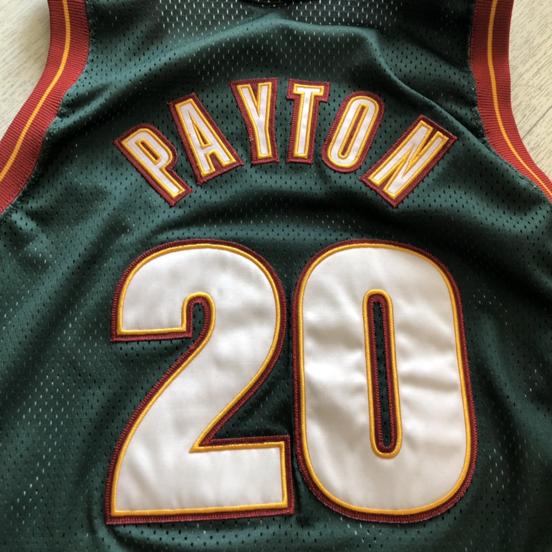 newest collection 4785e e1cdd Gary Payton #20 Authentic Jersey Seattle... - Depop