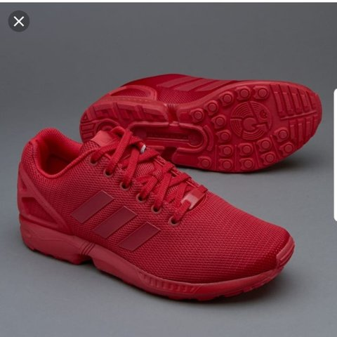 ded09bb8c7508 Adidas Zx flux All red trainers - Depop