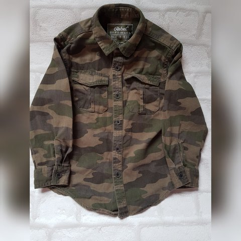 1fbf657aef18b @jgor2548. last year. Manchester, GB. REDUCED Toddler boys Rebel by Primark  camouflage print shirt, size 2-3 ...