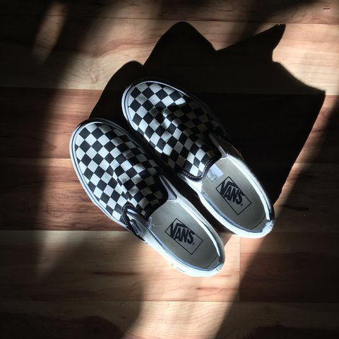 f991ad6fd6 Very gently worn checkered Vans slip ones. Pretty much new