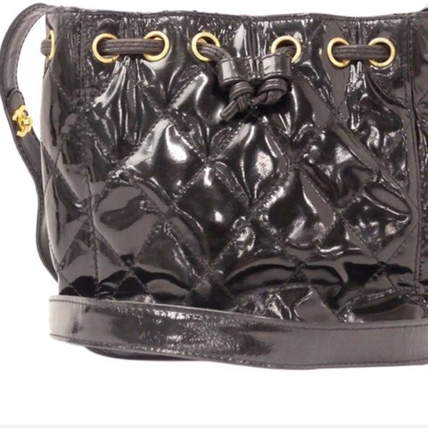 f5dc209aba0 Black vintage Chanel bucket bag. About the size of the Gucci - Depop