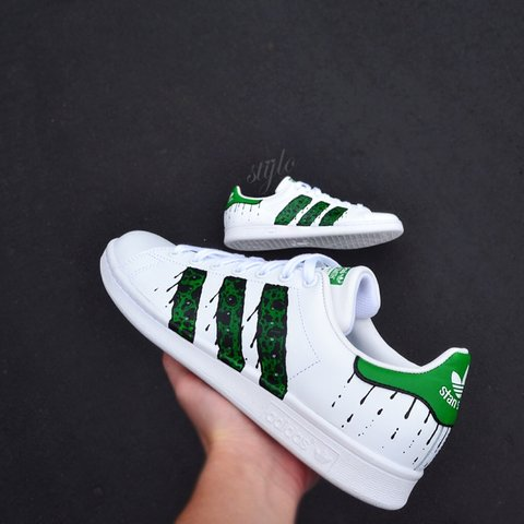 sports shoes 0c3e2 8e12d  unleashedkustoms. 3 years ago. Maplewood, MN, USA. Custom painted adidas  stan smith ...